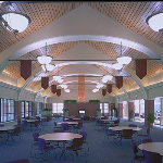 Campus Commons Building Interior Showing New Lighting System