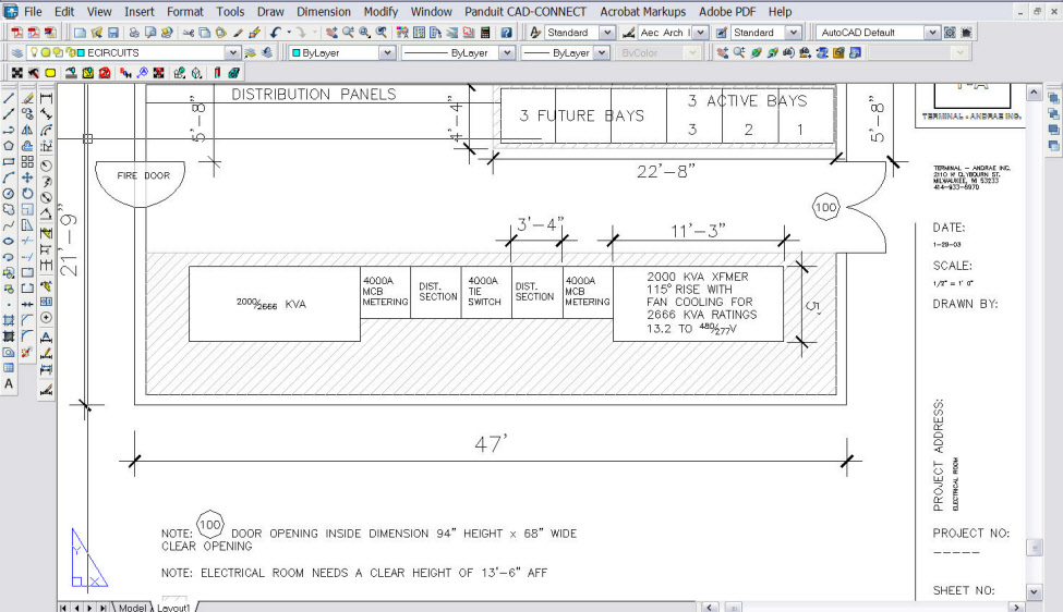 Electrical Services Drawing Electrical Cad Drawings